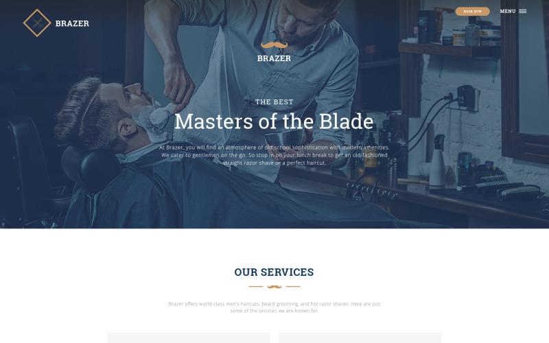 Szablon strony internetowej salonu fryzjerskiego