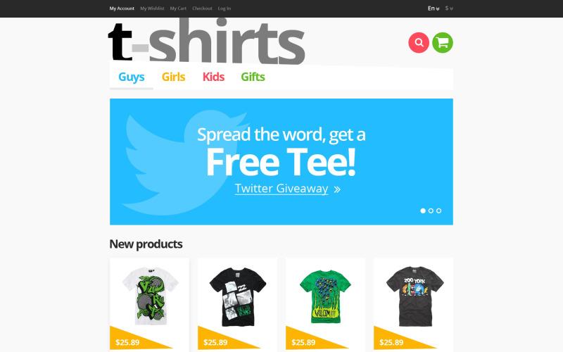 Адаптивна футболка магазину Magento Theme
