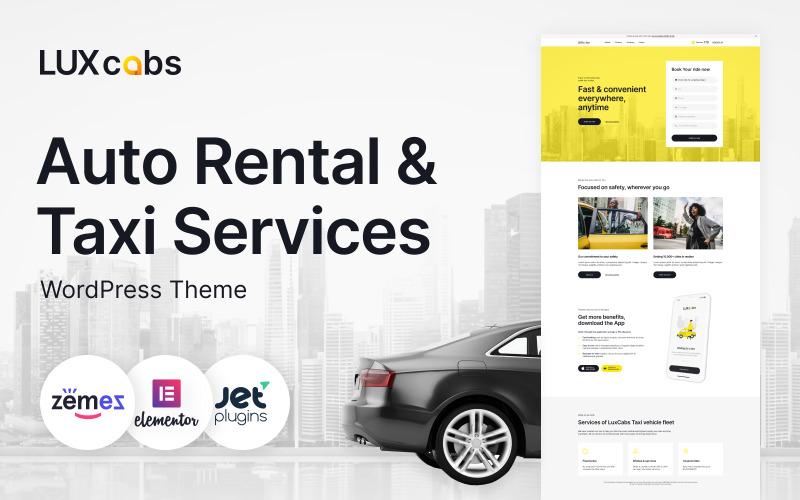 LuxCabs - Auto Rental & Taxi Services WordPress Theme