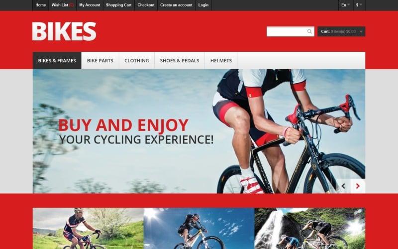 Responsive Bikes Store OpenCart Template
