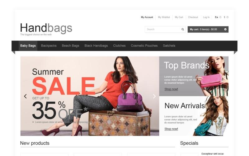 Responsive Handbags Store Magento Theme