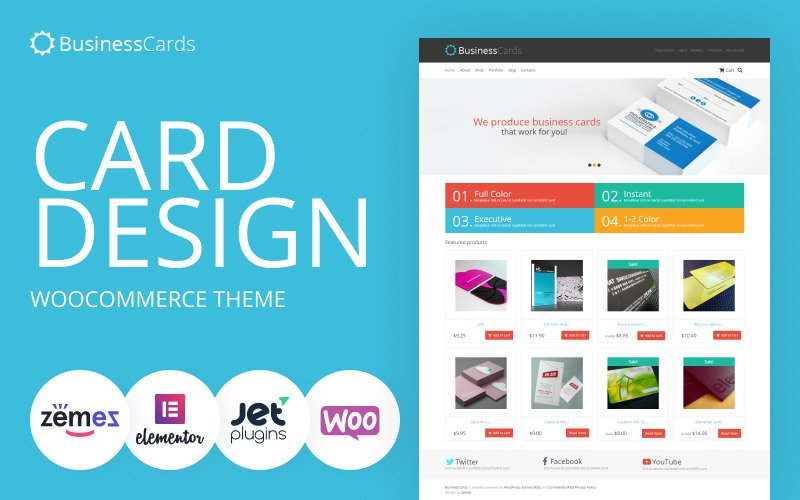 Business Cards - Card Design Store WooCommerce Theme