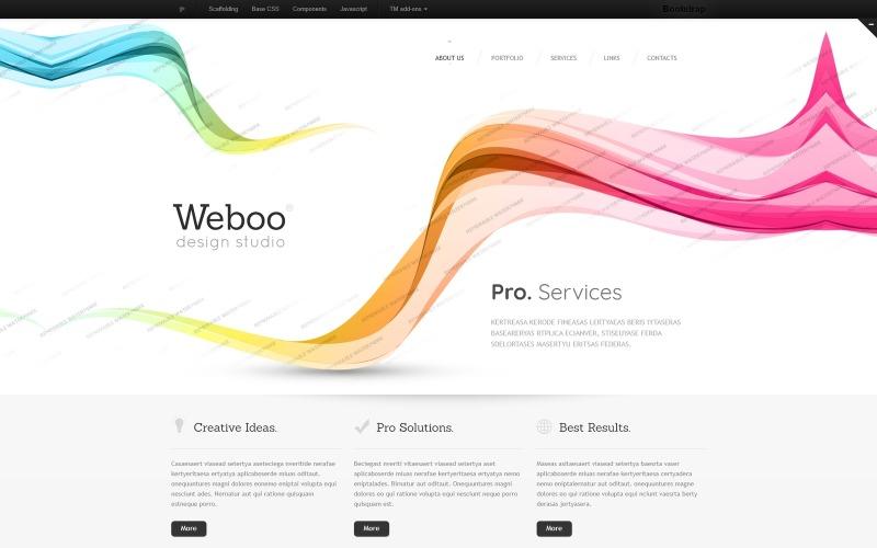 Modelo de site responsivo do Design Studio