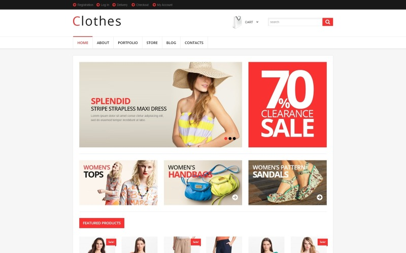 Responsive Clothes Store WooCommerce Theme