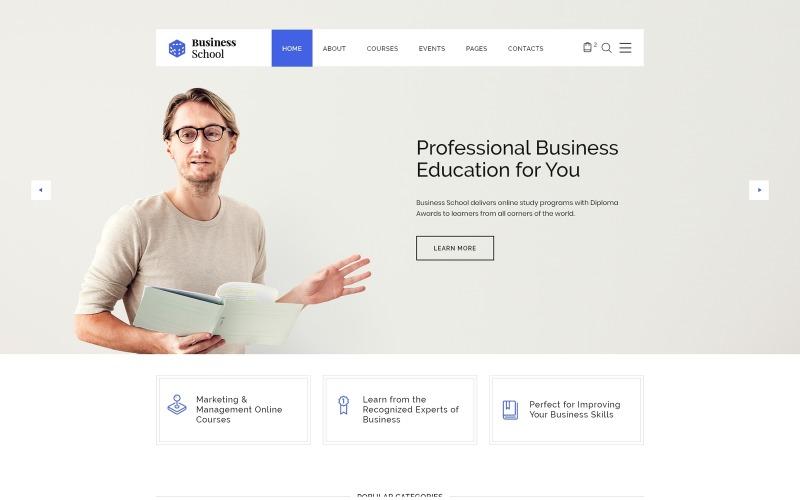 Business School - E-learning Wielostronicowy szablon witryny HTML
