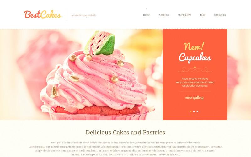 Cute Sweet Shop WordPress Teması