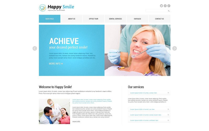 Fancy Dentistry Joomla Template