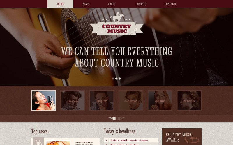 Music Blog Responsive Website Template