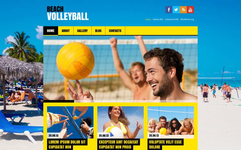 Плоский волейбол WordPress тема