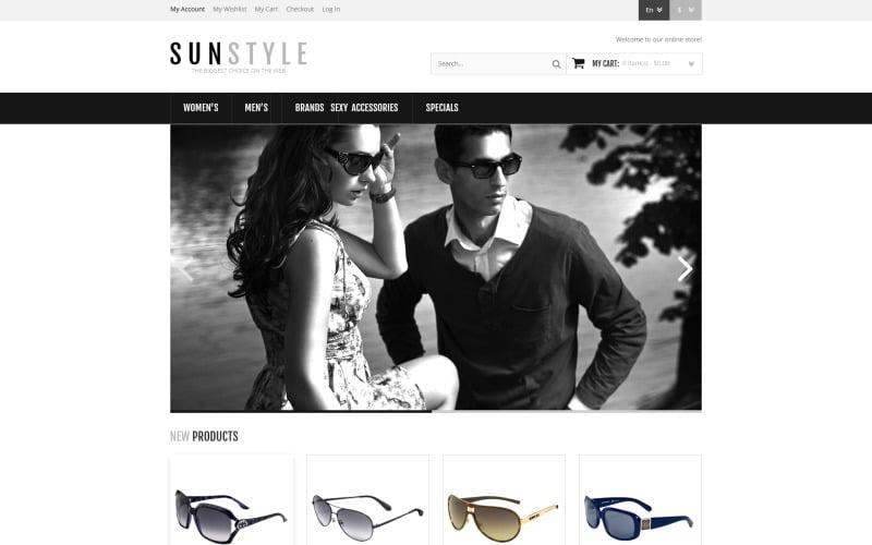 Responsive Sunglasses Store Magento Theme