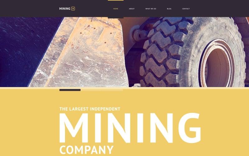 Mining Company Responsive Website Template