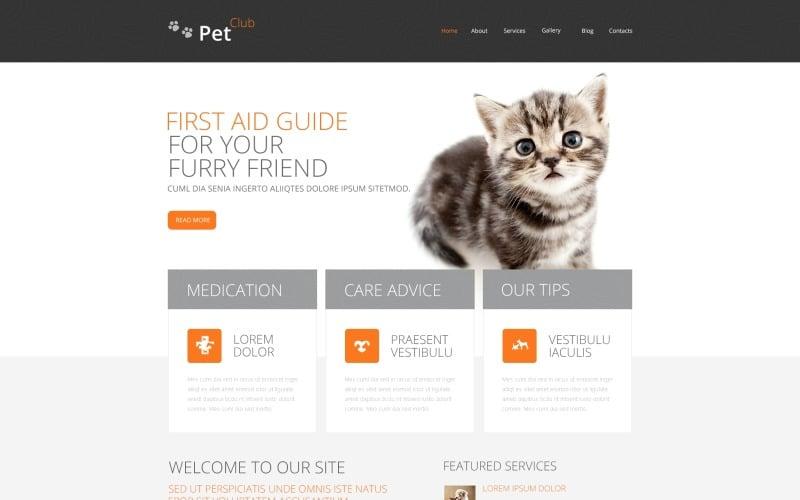 Pet Club Drupal Template