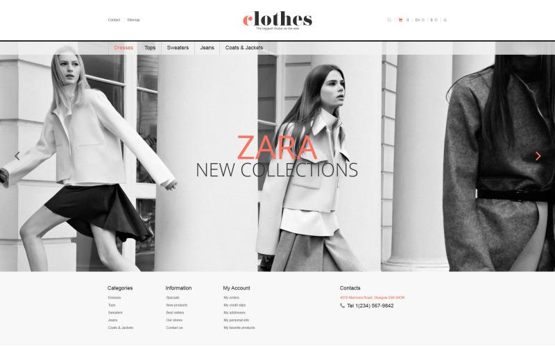 Responsive Clothes Store PrestaShop Theme