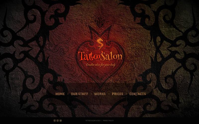 Tattoo Salon Website Template