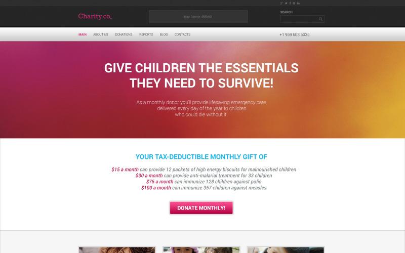 Enkelt välgörenhets WordPress-tema