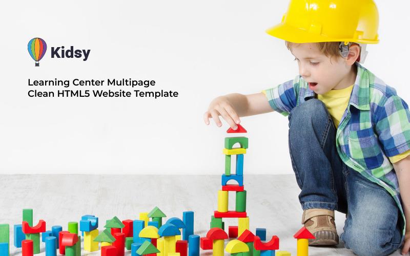 Kidsy - Многостраничный чистый HTML5 шаблон веб-сайта учебного центра