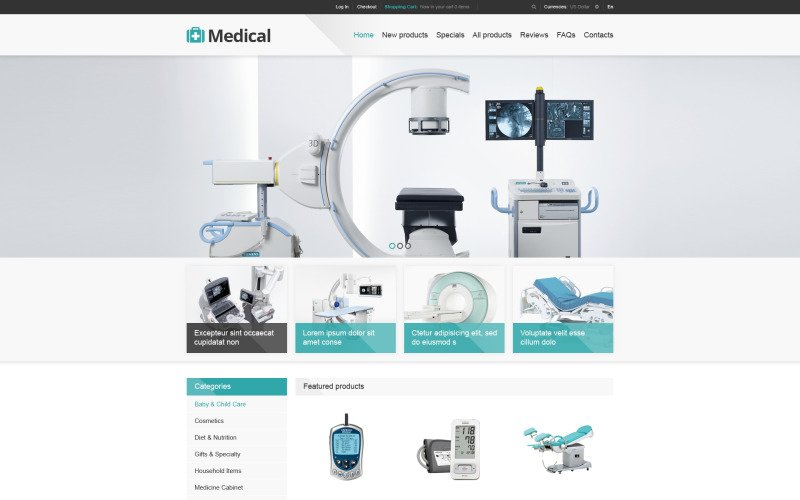 Medical Store ZenCart Template