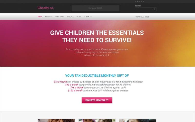 Prosty motyw charytatywny WordPress