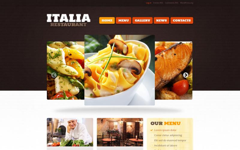 Restauracja z motywem Italian Food WordPress