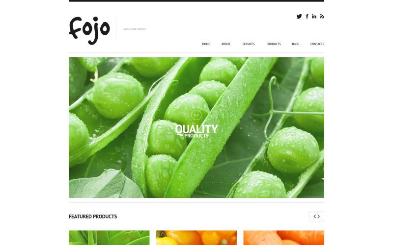 Тема WordPress для органического сельского хозяйства