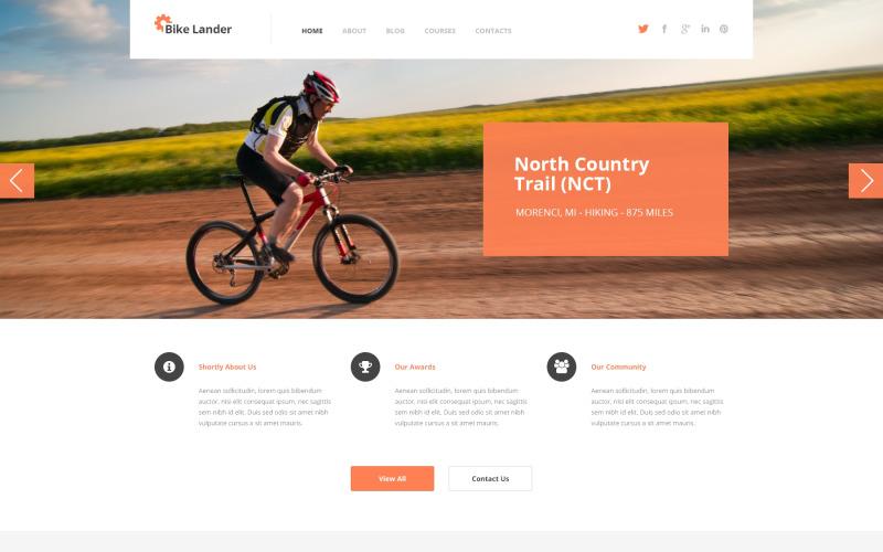 WordPress тема Cycling Club
