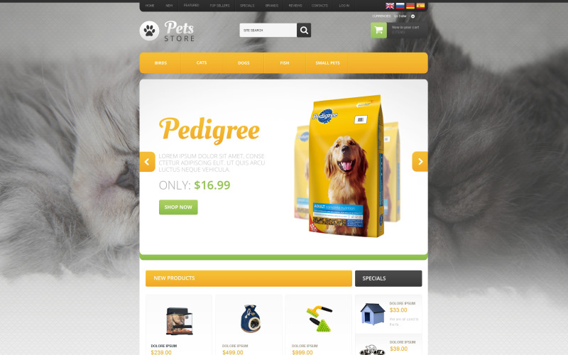 Goods for Pets OsCommerce Template