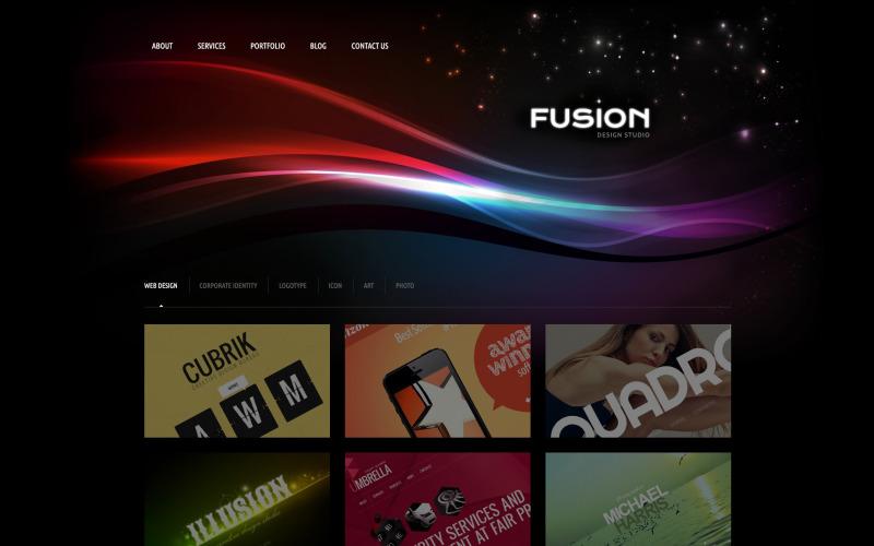 Futuristic Design Studio WordPress-tema