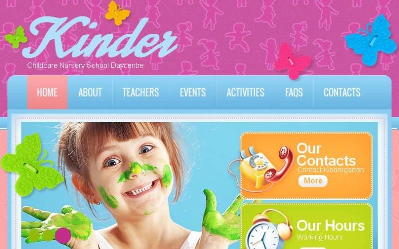 Kids Center Facebook HTML CMS Template
