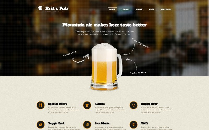 Tema de WordPress Beer Pub