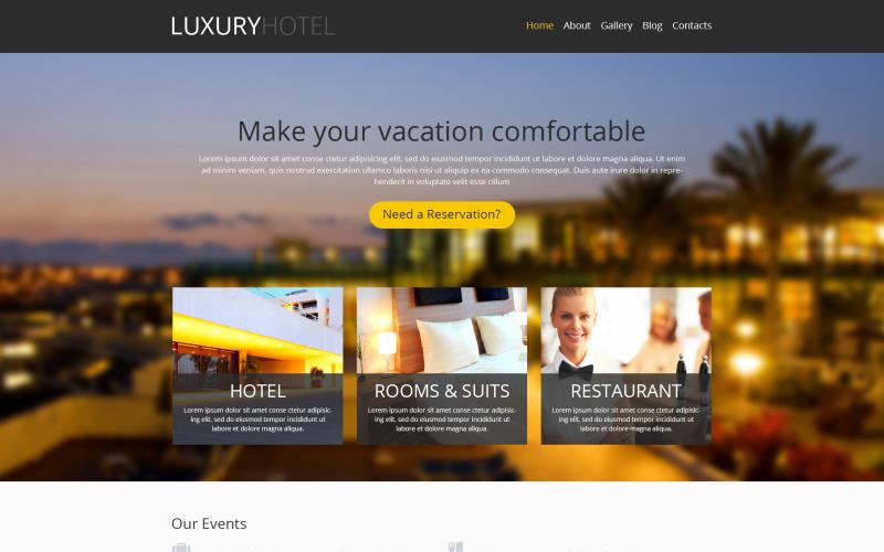 WordPress тема современного гостиничного бизнеса