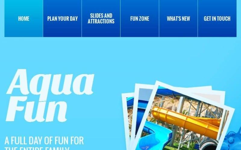 Amusement Park Facebook HTML CMS Template
