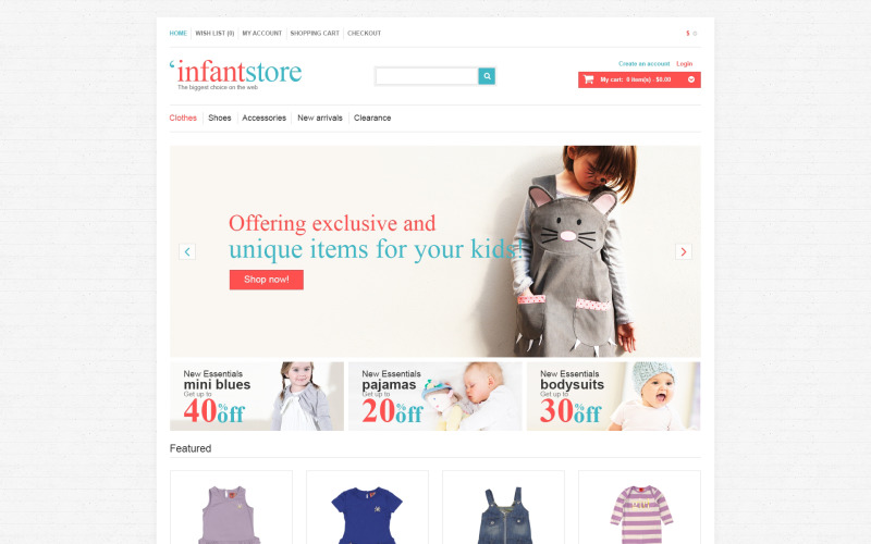 Infant Store OpenCart-mall