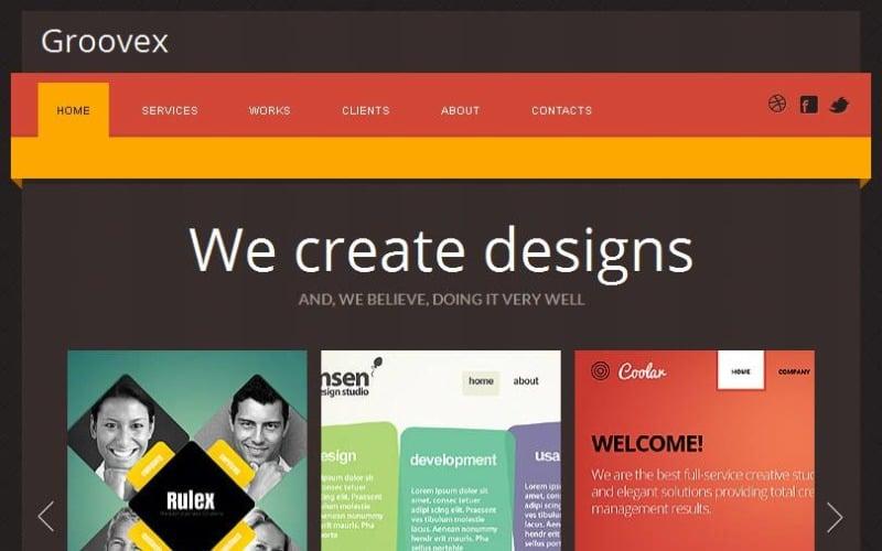 Design Studio Facebook HTML CMS-mall