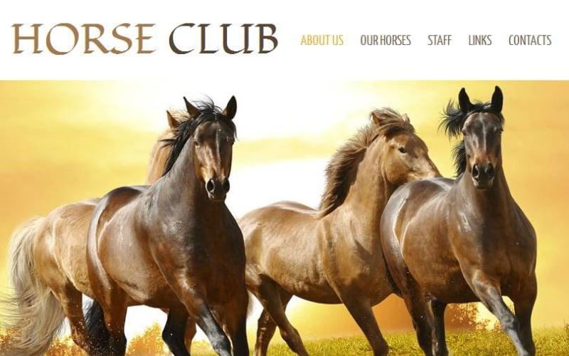 Horse Facebook HTML CMS Şablonu