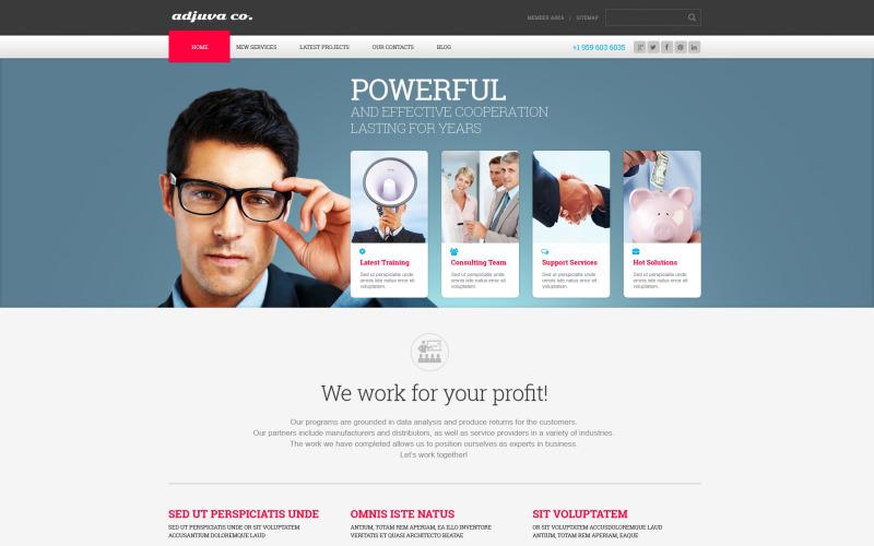 WordPress-tema för Metallic Management Business