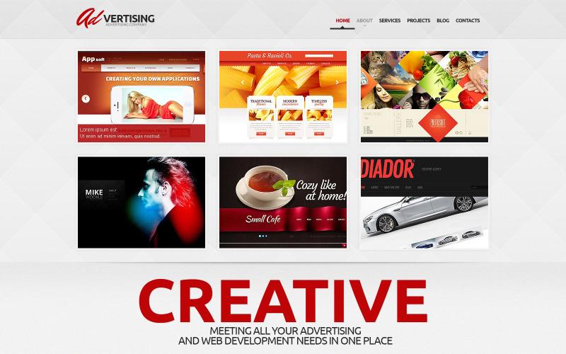 WordPress тема рекламной компании