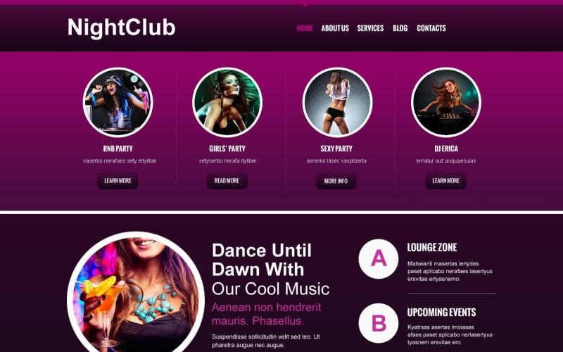 Night Club Responsive Joomla Template