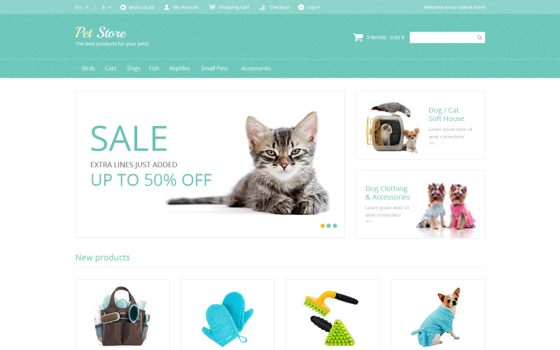 Pet Supplies Magento Theme