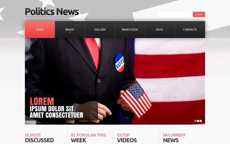 Political News Responsive Joomla Template