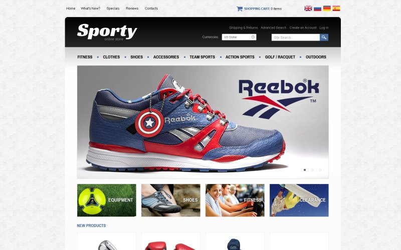Sporty OsCommerce Template