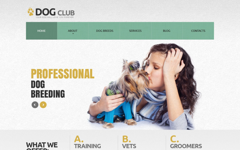 Dog Responsive Joomla Template