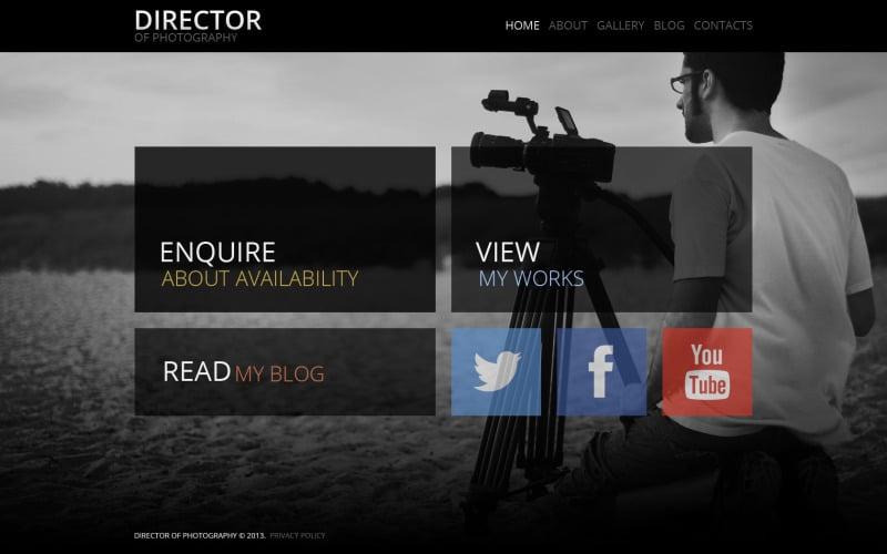 Fancy Photographer Portfolio WordPress Theme