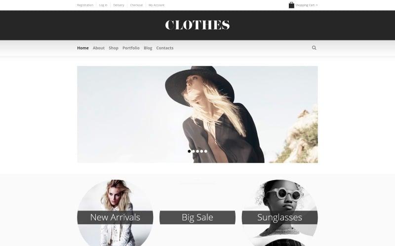 Fashionabla kläder WooCommerce-tema