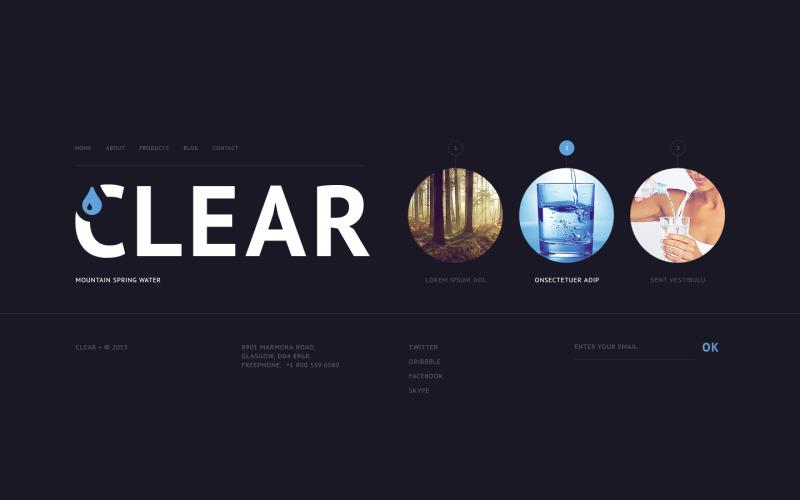 Vatten webbplats mall
