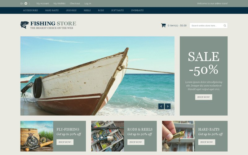 Fishing Accessories Magento Theme