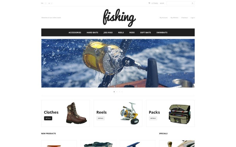 Fishing Sport Magento Theme
