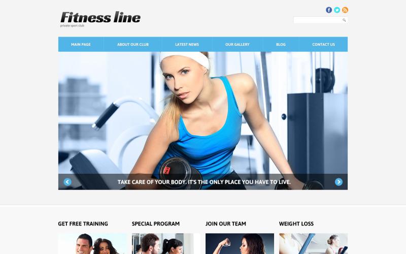Fitness Club för vinst Joomla mall