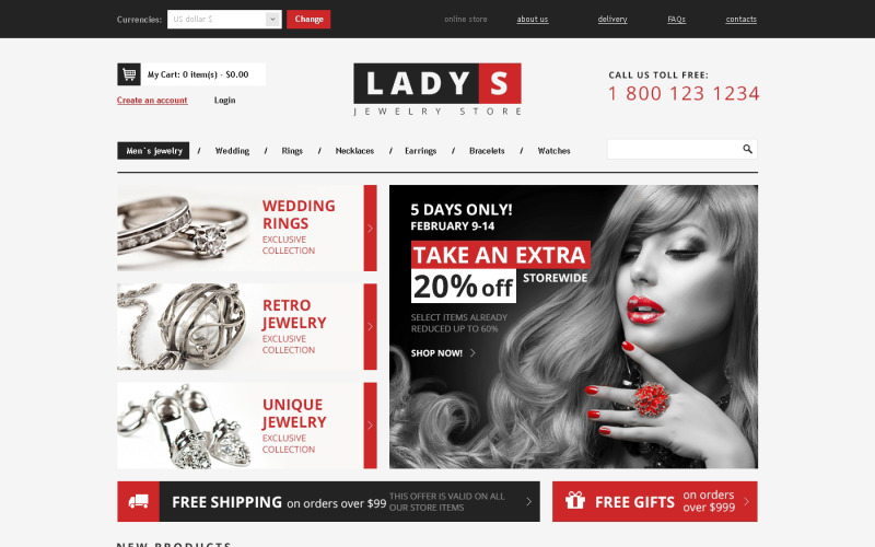 Jewelry for Real Ladies VirtueMart Template