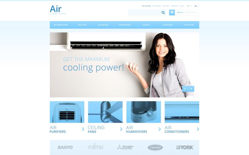 Luftkonditioneringsapparater Magento Theme