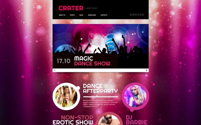 Nattklubb responsiv webbplats mall